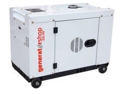 DG8600SE | 6.3kW Enclosed Diesel Generator with 2 Wire Start and Remote Electric Start/Stop on Wheels