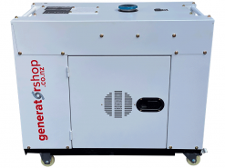 DG8600SE | 6.3kW Enclosed Diesel Generator with 25L Fuel Tank, 2 Wire Auto Start/Stop and Wireless Remote Electric Start/Stop on Universal Wheels and Pure Sine Wave AC (Inverter Like) | GENERATORshop.co.nz