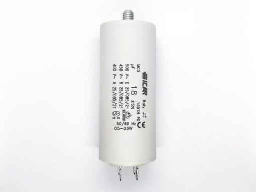 ICAR 18µF RUN CAPACITOR With Terminals
