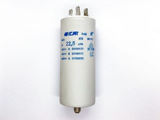 ICAR 22.5µF RUN CAPACITOR WITH TERMINALS