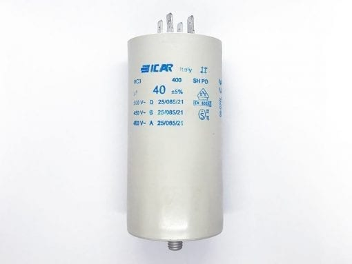 ICAR 40µF RUN CAPACITOR With Terminals
