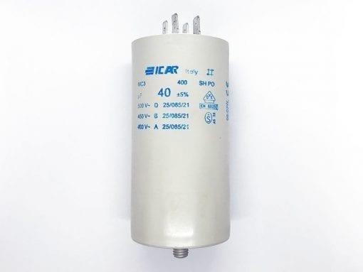 ICAR 40µF RUN CAPACITOR With Terminals