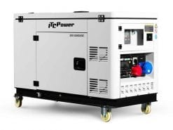 DG12000XSE | 10kVA Enclosed Standby Pure Sine Wave Diesel Generator On Wheels with Wireless Remote Start/Stop + 2 Wire Start/Stop