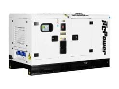 DKU20KSEm | 19.8kVA Enclosed Canopy Standby Diesel Generator with Kubota Engine and Stamford Alternator, Single Phase