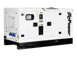 DKU32KSEm | 31.9kVA Enclosed Canopy Standby Diesel Generator with Kubota Engine and Stamford Alternator, Single Phase