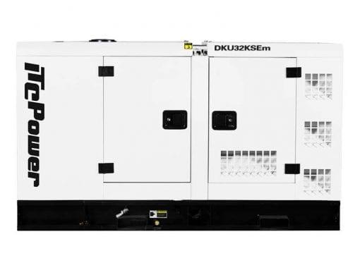 DKU32KSEm | 31.9kVA Enclosed Canopy Standby Diesel Generator with Kubota Engine and Stamford Alternator, Single Phase