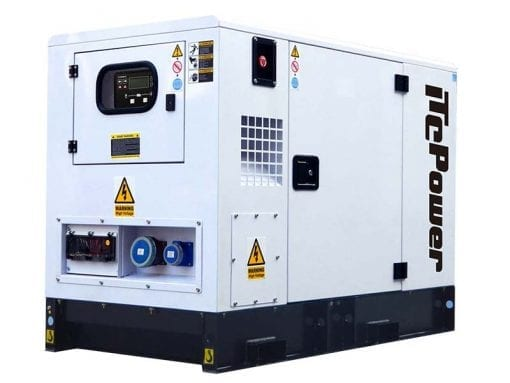 DKU9KSEm | 8.8kVA Enclosed Canopy Standby Diesel Generator with Kubota Engine and Stamford Alternator, Single Phase
