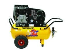 AIR COMMAND TM12 Tradesman 12 | 11.1cfm / 315L/min, 50L Tank, 2HP Industrial Single Phase Belt Drive Air Compressor