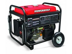*FOR HIRE* | 7kVA Portable Petrol Conventional/Open Frame Generator with Electric Start and Wheels | POWERBUILT 7250W