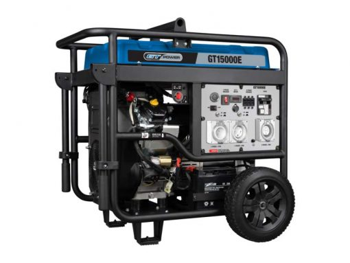 GT Power GT15000E | 15000W Conventional/Open Frame Professional Power Generator with Push Button Electric Start and Wheels