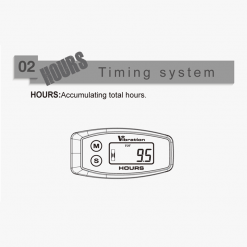 Digital Wireless Vibration Hour Meter   Vibration Activated, Works on Any Engine   GENERATORshop.co.nz