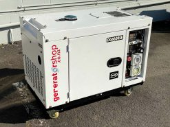 *SECOND HAND* DG8600SE | 6.3kW Enclosed Diesel Generator with 2 Wire Auto Start/Stop and Wireless Remote Electric Start/Stop on Universal Wheels and Pure Sine Wave AC