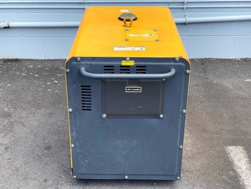 SECOND HAND 6.5kW Enclosed Diesel Generator with Electric Start on Wheels